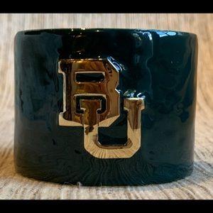 NWOT Baylor University Open Cuff Logo Bracelet